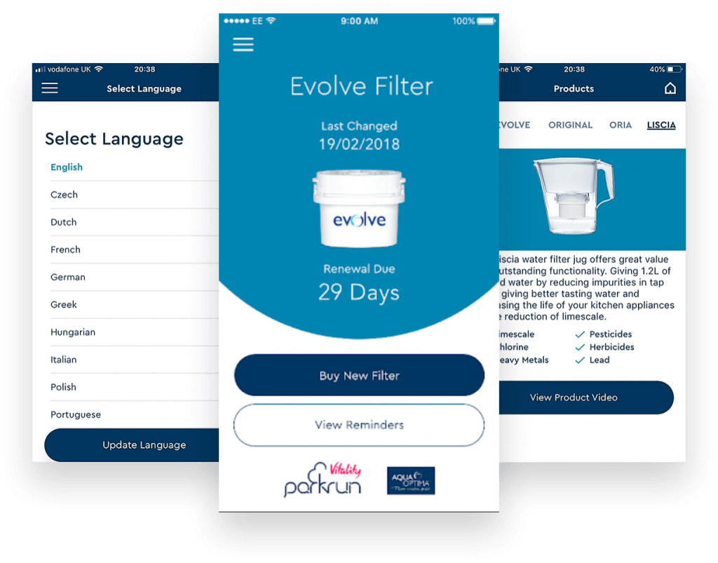 Evolve Filter User Interface - The App Development Process